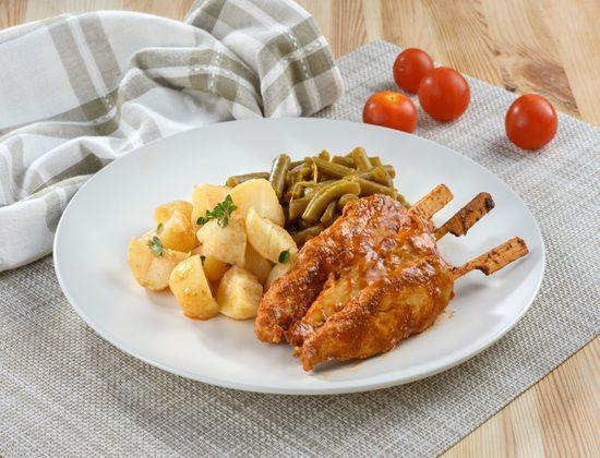 שיפודי עוף עם ירקות