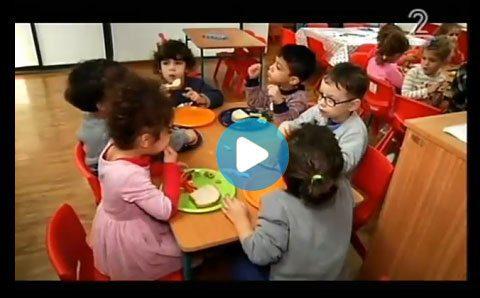 תמונה של סרטון של ילדים אוכלים