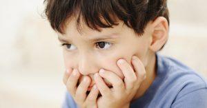 פנים של ילד מתוסכל