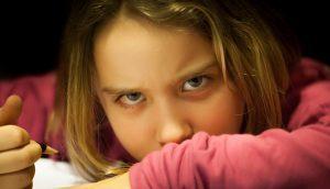ילדה מתוסכלת
