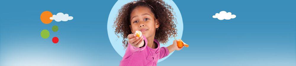 באנר ילדה עם תפוז