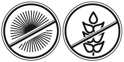 אייקונים ללא גלוטן וללא אלרגנים