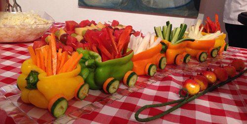 דוגמה להגשת ירקות לילדים