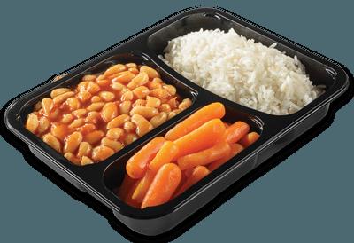 שעועית לבנה ברוטב עגבניות בתוספת אורז וגזר