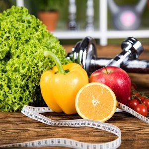 משקולות, פירות וירקות
