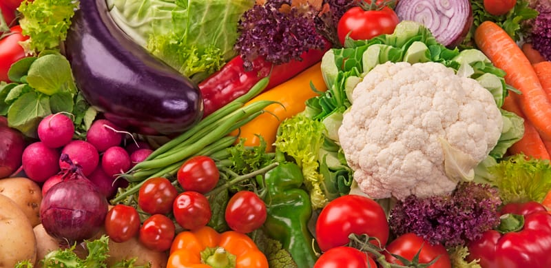 ירקות בשלל צבעים