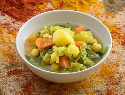 צלחת עם ירקות לקוסקוס